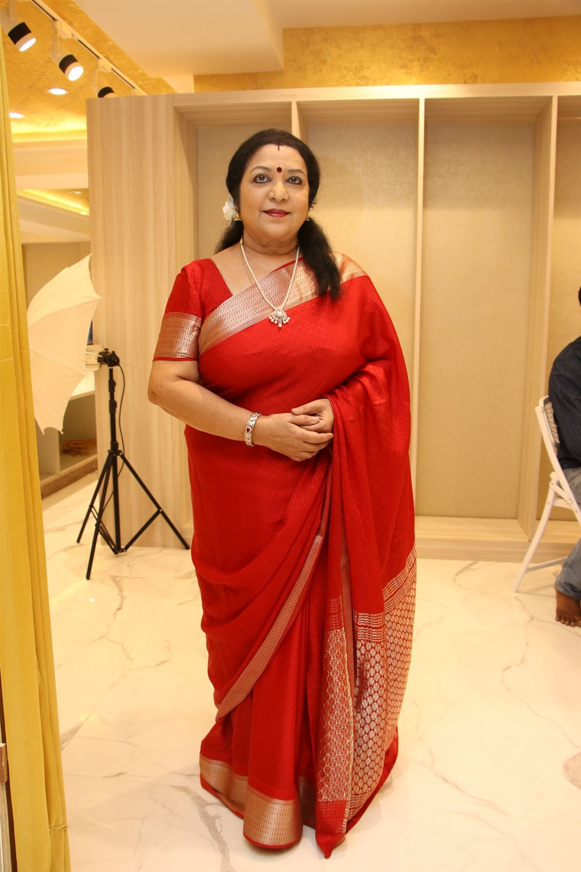 Actress Latha @ AA Guru Silks Launch Photos