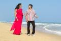 Jai Akash, Kausalya in Aa Iddaru Movie Beach Song Stills
