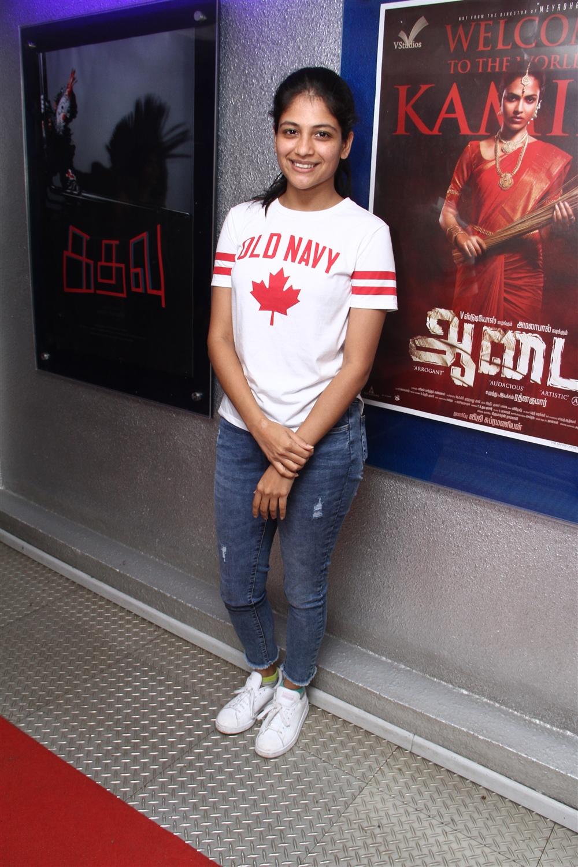 Aditi Balan @ Aadai Movie Celebrities Show Stills