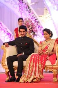 Actor Aadi Aruna Wedding Reception Stills