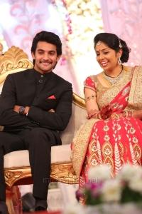 Hero Aadi Pudipeddi - Aruna Wedding Reception Stills