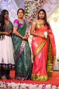 Hema @ Hero Aadi Wedding Reception Stills
