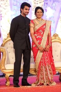 Hero Aadi Aruna Wedding Reception Photos