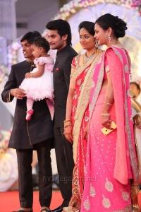 Hero Aadi Wedding Reception Stills