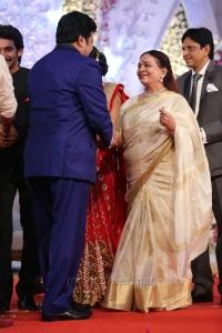 Sai Kumar, Vijaya Nirmala @ Hero Aadi Wedding Reception Stills