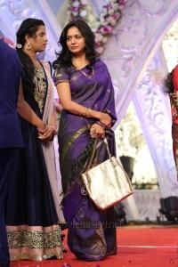 Singer Sunitha Upadrashta @ Hero Aadi Wedding Reception Stills