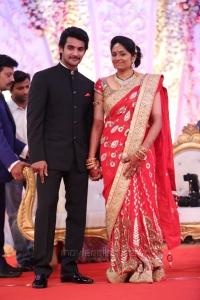 Hero Aadi Aruna Wedding Reception Stills