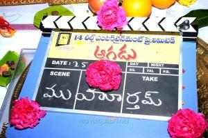 Aagadu Movie Opening Stills