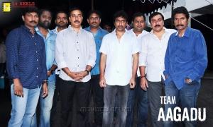 KV Guhan, Seenu Vaitla, Thaman, Anil @ Aagadu Movie Opening Stills