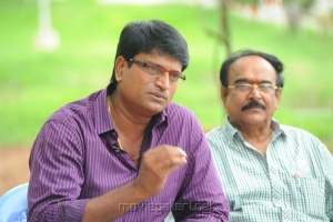 Ravi Babu, Paruchuri Venkateswara Rao at Aakasam Lo Sagam Press Meet Stills