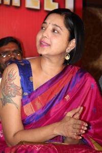 Aishwarya @ Aambala Movie Success Meet Stills