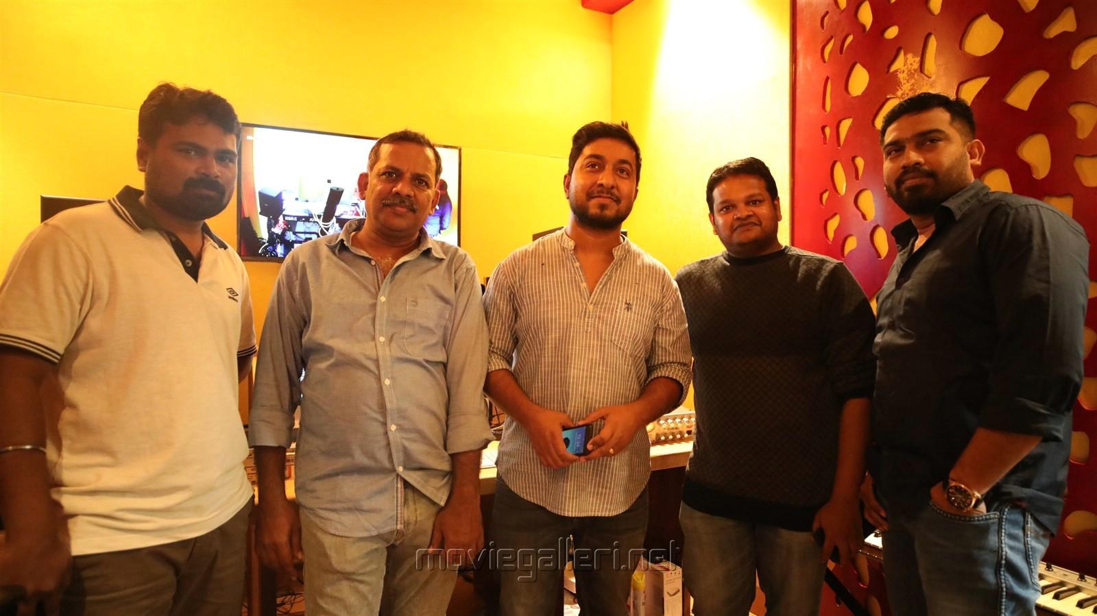 Director Thamira, Vineeth Seenivasan, Ghibran @ Aan Devathai Movie Song Recording Photos