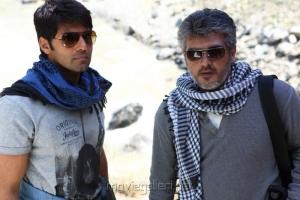 Arya, Ajith in Aarambam Tamil Movie Stills