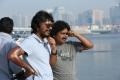Vishnuvardhan, Om Prakash @ Aarambam Movie Working Stills