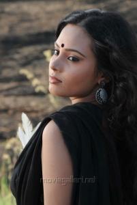 Aarushi Hot Stills in Black Dress from Azhagan Azhagi
