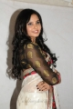 Actress Aarushi in White Saree Cute Photos