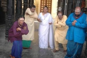 Anu Mohan, Paandu, Shakila, Nellai Siva, Santhana Bharathi in Aasami Tamil Movie