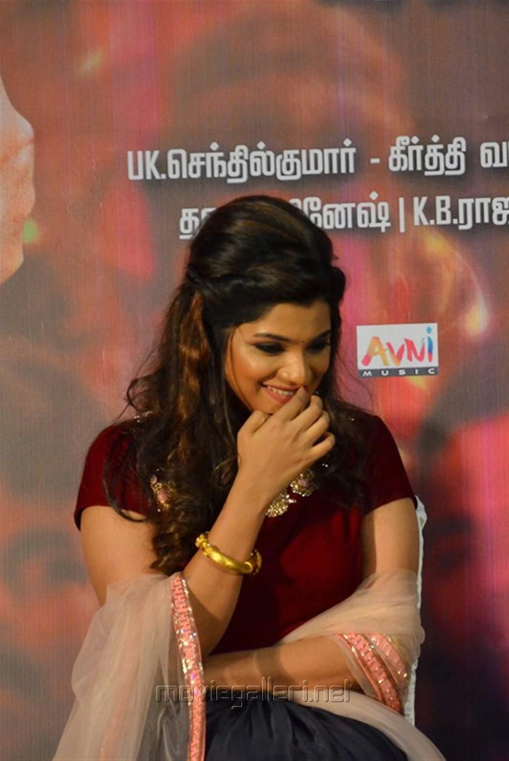 Heroine Aathmika Stills @ Meesaya Murukku Audio Launch