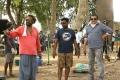 UK Senthil Kumar, Kanal Kannan, Ezhil @ Aayiram Jenmangal Movie Working Stills