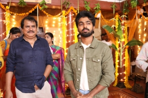 Ezhil, GV Prakash @ Aayiram Jenmangal Movie Working Stills