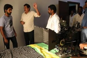 GV Prakash, Ezhil @ Aayiram Jenmangal Movie Working Stills