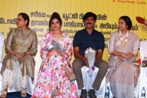 BR Vijayalakshmi, Piaa Bajpai, Natraj, Suhasini @ Abhiyum Anuvum Movie Press Meet Stills