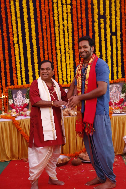 Brahmanandam, Vishnu Manchu @ Achari America Yatra Movie Opening Stills