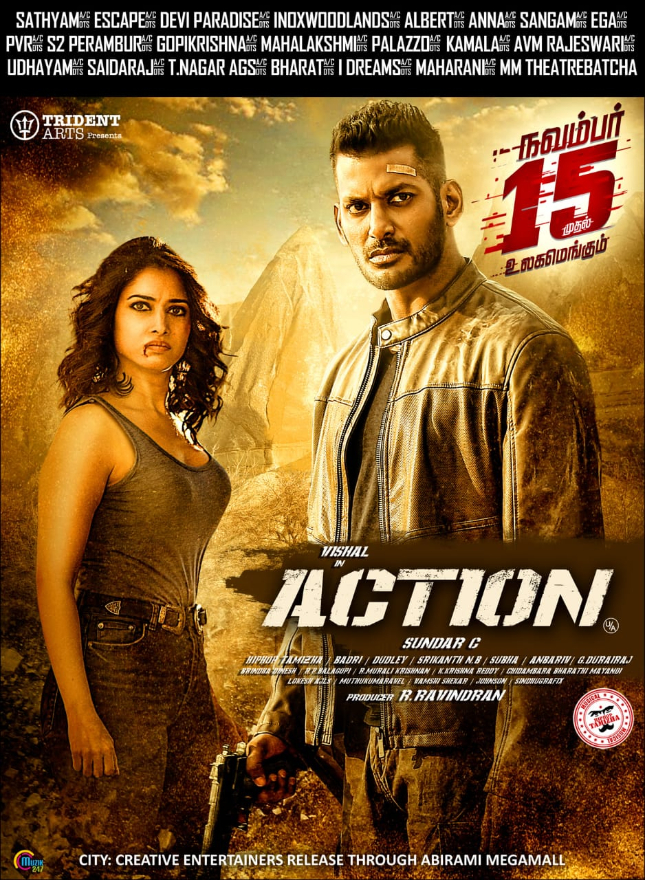 Action 2020 Hindi Dubbed 720p HDRip 950MB Download