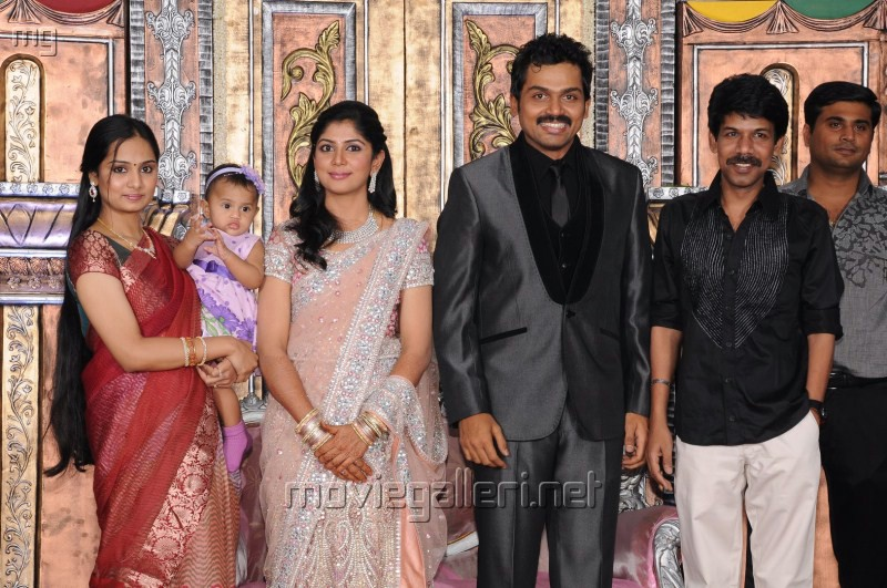 Director Bala with Wife @ Actor Karthi Reception Photos