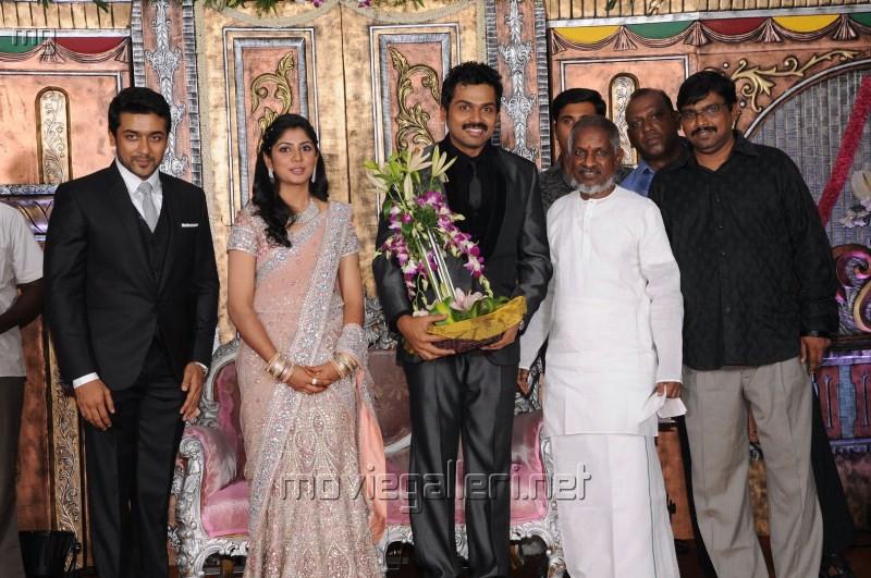 Ilayaraja @ Actor Karthi Reception Photos