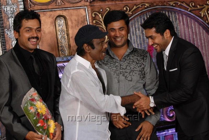 Goundamani @ Actor Karthi Reception Photos