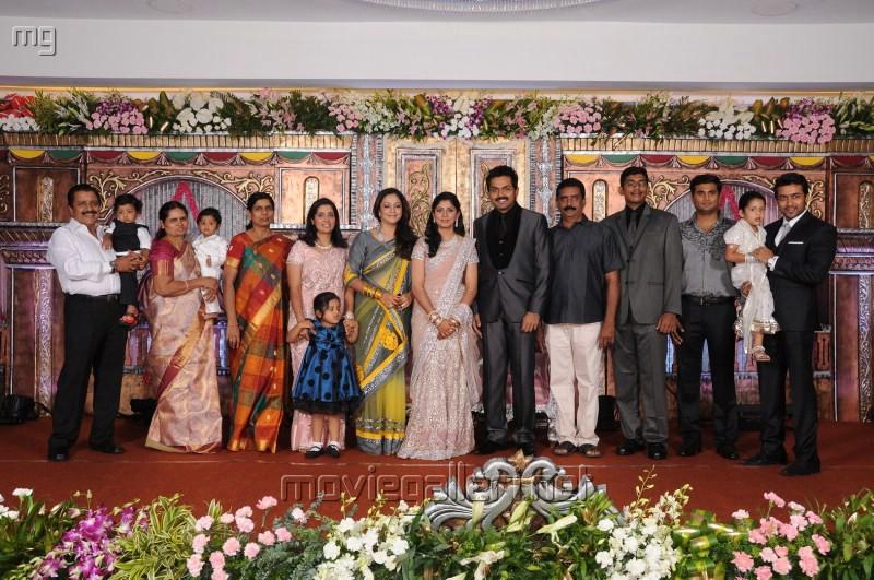 Suriya, Jyothika @ Actor Karthi Reception Photos