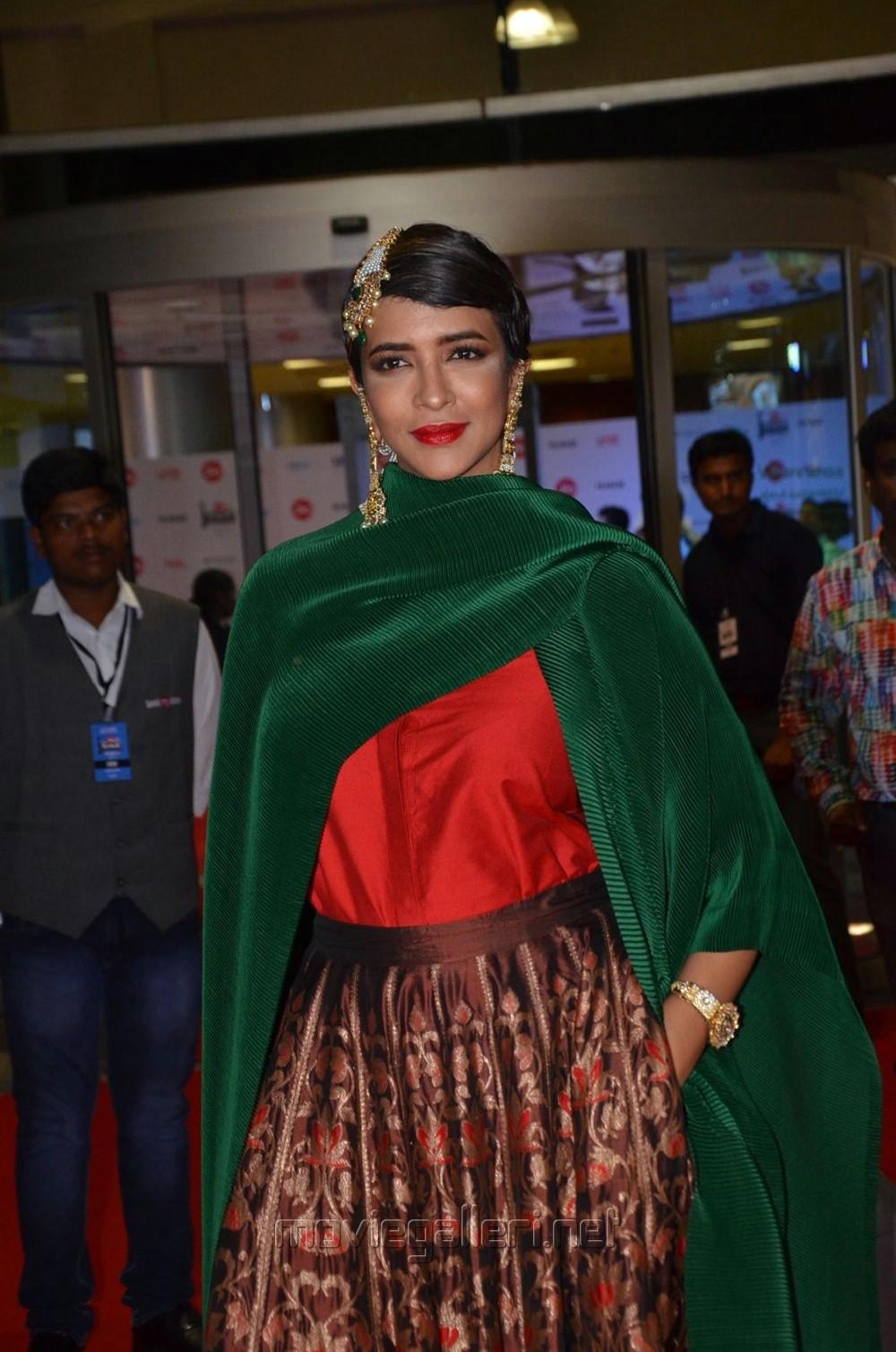 Actress Manchu Lakshmi @ 64th Filmfare Awards 2017 South Red Carpet Stills
