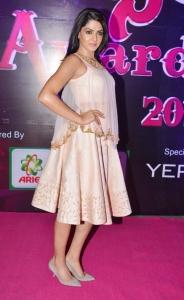 Actress Sakshi Choudhary @ Apsara Awards 2016 Red Carpet Stills