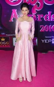 Actress Anisha Ambrose @ Apsara Awards 2016 Red Carpet Stills