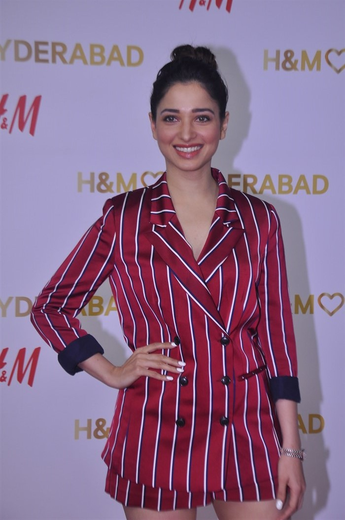 Actress Tamanna @ H&M's VIP Party Inorbit Mall Hyderabad