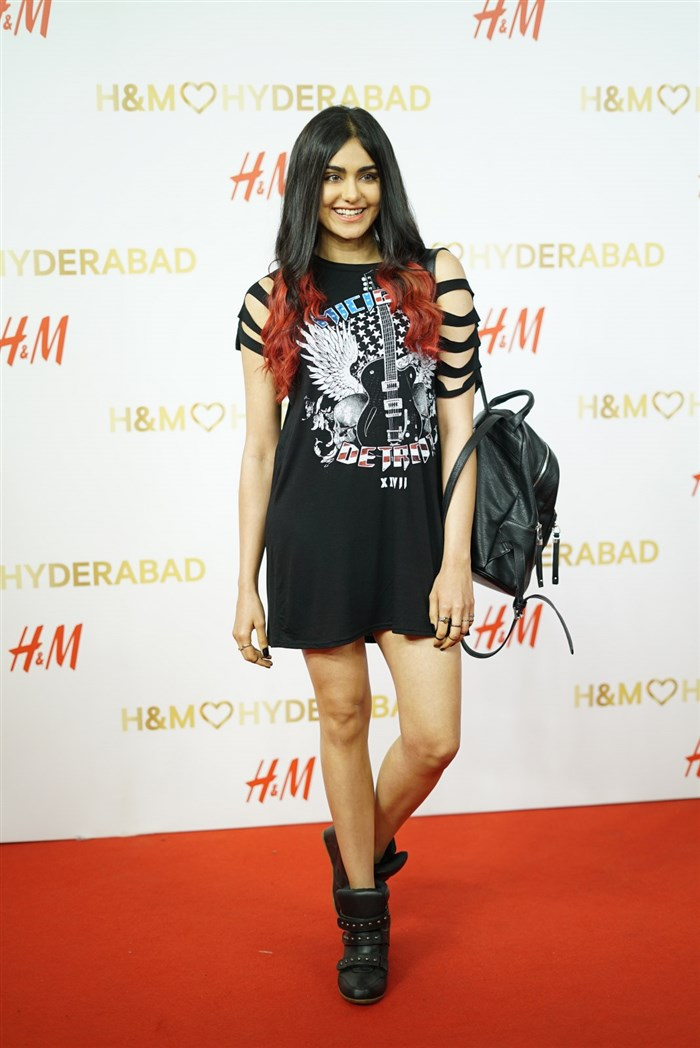 Actress Adah Sharma @ H&M's VIP Party Inorbit Mall Hyderabad