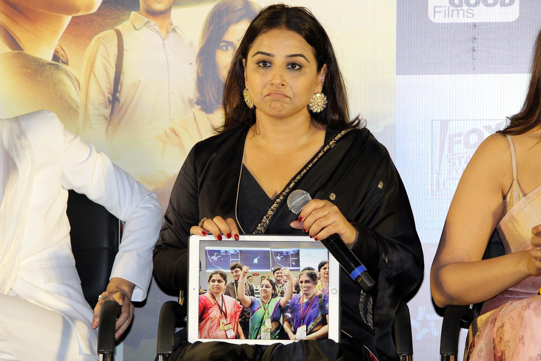 Actress Vidya Balan @ Mission Mangal Trailer Launch Photos