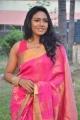 Tamil Actress Risha Saree Hot Images @  Saravanan Irukka Bayamaen Press Meet