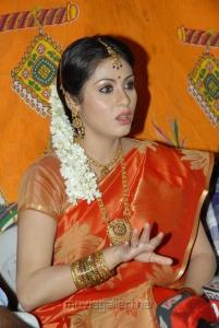 Sada in Silk Saree Photos at Mythri Movie Press Meet