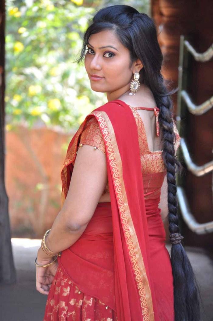 hot South actress saree