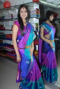 Supriya Shailja at Shubam Silk Saree Festival