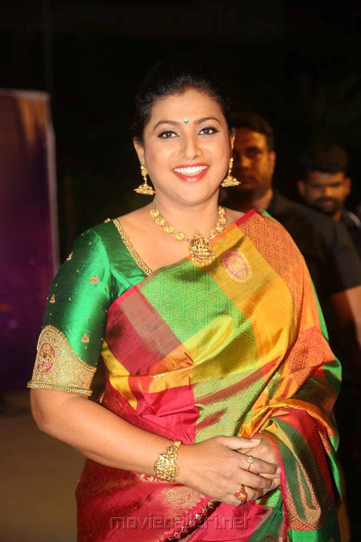 Actress Roja @ Zee Telugu Apsara Awards 2018 Red Carpet Photos