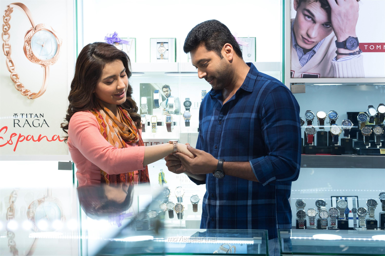 Raashi Khanna, Jayam Ravi in Adanga Maru Movie Images HD