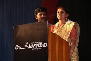 Singer Senthil Rajalakshmi @ Adangamai Movie Audio Launch Stills