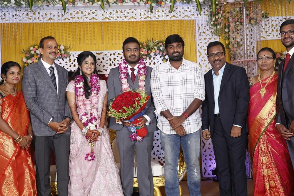 Vijay Sethupathi @ Charlie elder son Adhithiya Charlie Amritha Wedding Reception Stills