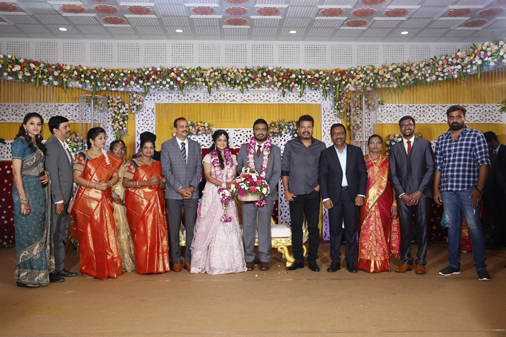 Shankar @ Charlie elder son Adhithiya Charlie Amritha Wedding Reception Stills