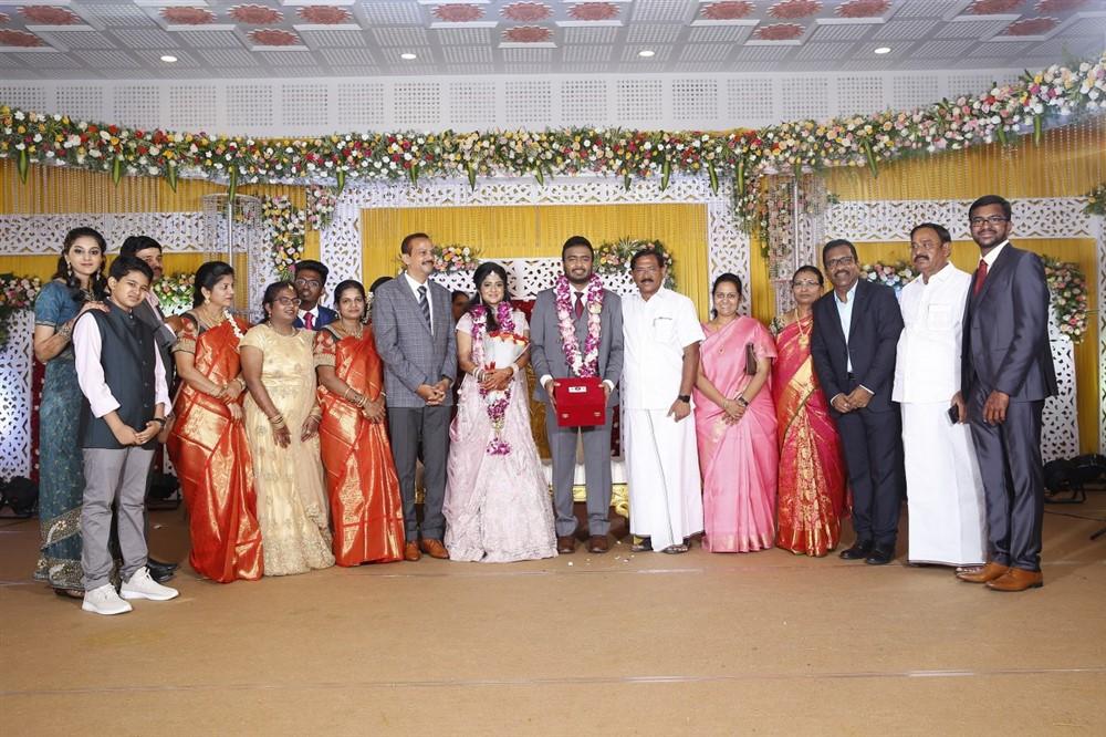 K. Pandiarajan @ Charlie elder son Adhithiya Charlie Amritha Wedding Reception Stills