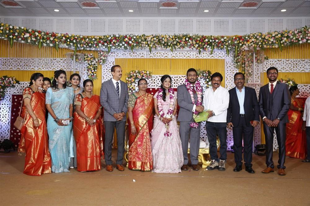 Jaguar Thangam @ Charlie elder son Adhithiya Charlie Amritha Wedding Reception Stills