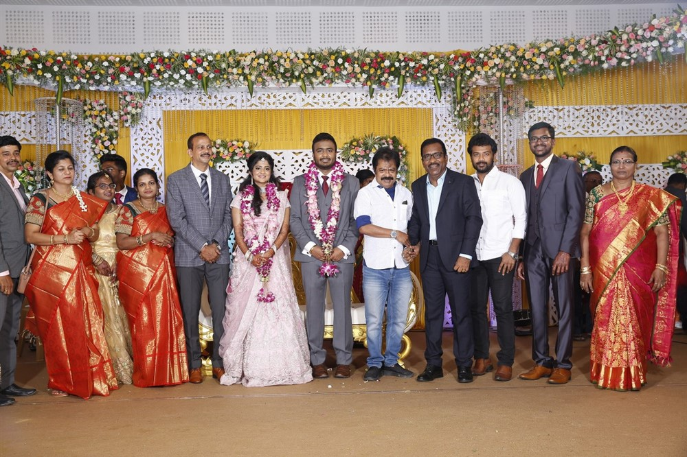 Pandiarajan, Prithvi Rajan @ Charlie elder son Adhithiya Charlie Amritha Wedding Reception Stills